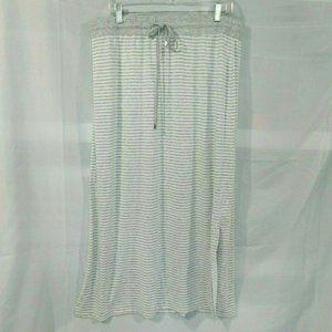 Tribal Jeans Jersey striped Long maxi Skirt XL